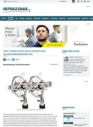 Amazona.de Warm Audio WA-84 Stereo-Set