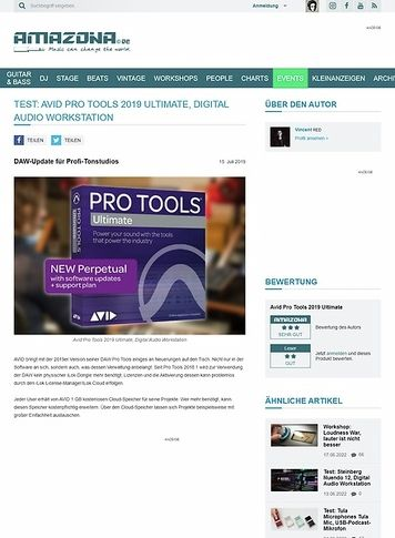 Amazona.de Avid Pro Tools 2019 Ultimate