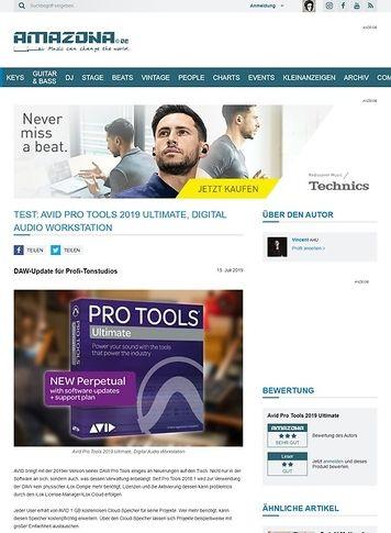 Amazona.de Avid Pro Tools 2019 Ultimate