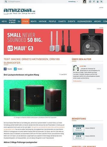 Amazona.de Mackie DRM212 Aktivboxen und DRM18S Subwoofer