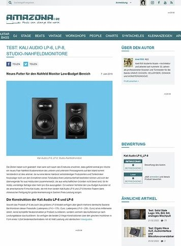 Amazona.de Kali Audio LP-6 und LP-8