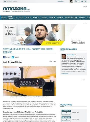 Amazona.de Millenium IP 3, HA4 und Pocket Mix