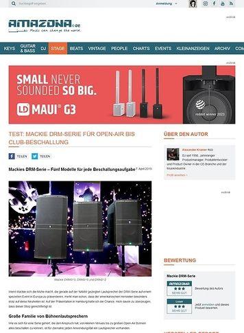 Amazona.de Mackie DRM-Serie für Open-Air bis Club-Beschallung