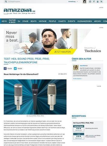 Amazona.de Heil Sound PR30, PR35 und PR40