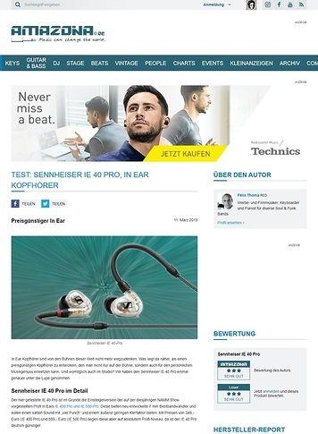 Amazona.de Sennheiser IE 40 Pro