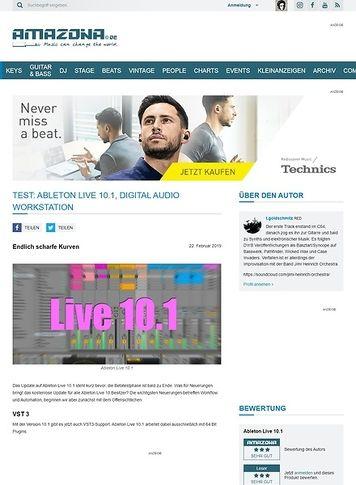 Amazona.de Ableton Live 10.1