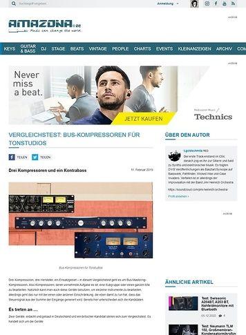Amazona.de Vergleichstest: Bus-Kompressoren für Tonstudios