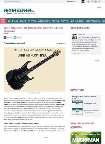 Amazona.de Sterling by Music Man John Petrucci JP160 RW