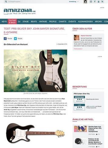 Amazona.de PRS Silver Sky John Mayer Signature