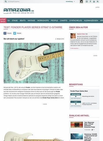 Amazona.de Fender Player Series Strat