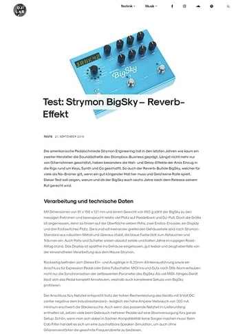 DJLAB Strymon Big Sky