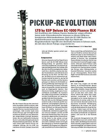 Gitarre & Bass LTD by ESP Deluxe EC-1000 Fluence BLK