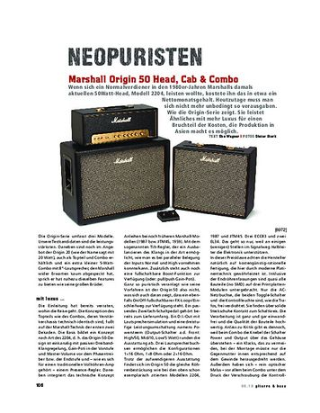 Gitarre & Bass Marshall Origin 50 Head, Cab & Combo