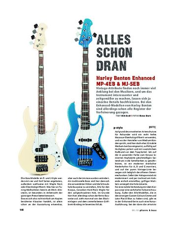 Gitarre & Bass Harley Benton Enhanced MP-4EB & MJ-5EB