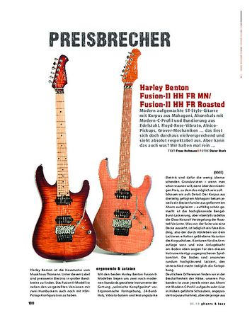 Gitarre & Bass Harley Benton Fusion-II HH FR MN & Fusion-II HH FR Roasted