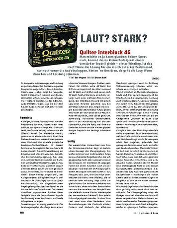 Gitarre & Bass Quilter Interblock 45