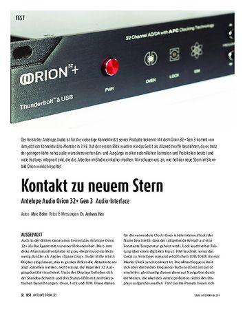 Sound & Recording Antelope Audio Orion 32+ Gen 3