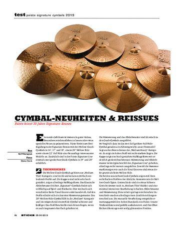 Sticks Paiste Signature Cymbals 2019