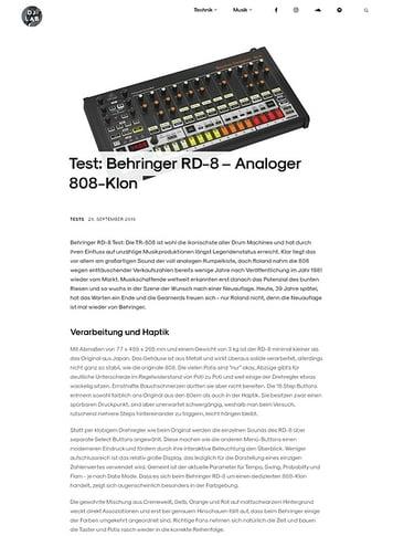 DJLAB Behringer RD-8