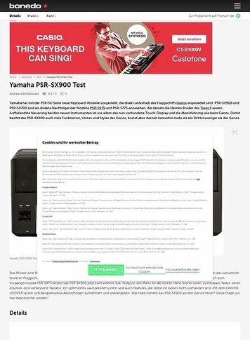 Bonedo.de Yamaha PSR-SX900