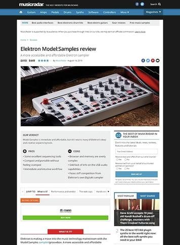MusicRadar.com Elektron Model:Samples