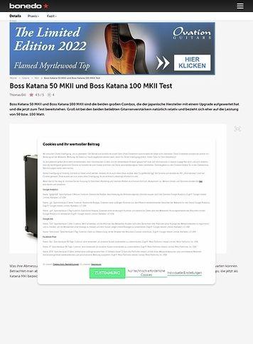 Bonedo.de Boss Katana 50 MKII und Boss Katana 100 MKII