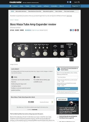 MusicRadar.com Boss Waza Tube Amp Expander