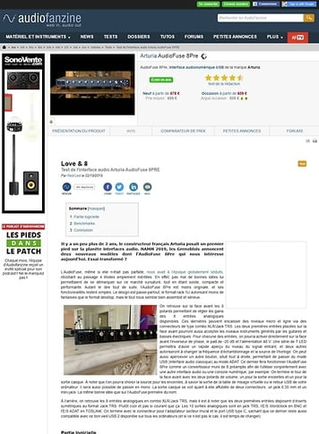 Audiofanzine.com Arturia AudioFuse 8Pre