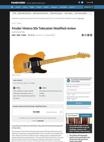 MusicRadar.com Fender Vintera 50s Telecaster Modified
