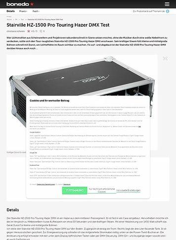 Bonedo.de Stairville HZ-1500 Pro Touring Hazer DMX