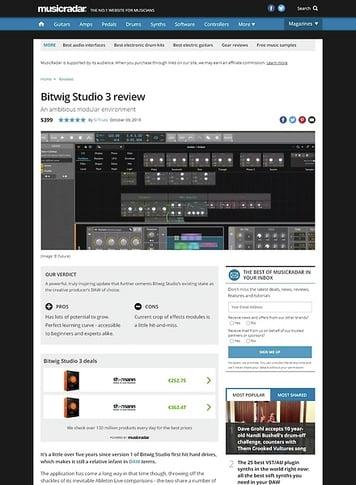 MusicRadar.com Bitwig Studio 3
