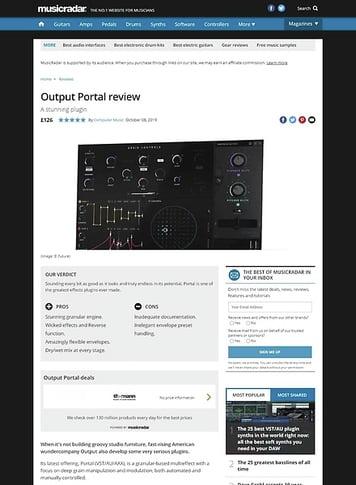MusicRadar.com Output Portal