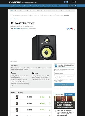 MusicRadar.com KRK Rokit 7 G4
