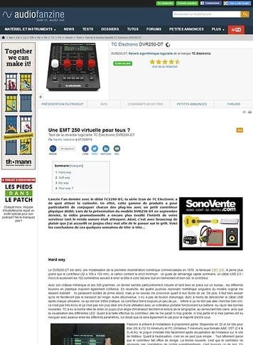 Audiofanzine.com TC Electronic DVR250-DT