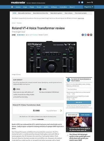 MusicRadar.com Roland VT-4 Voice Transformer