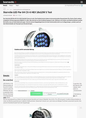 Bonedo.de Stairville LED Par 64 CX-6 HEX 18x12W S