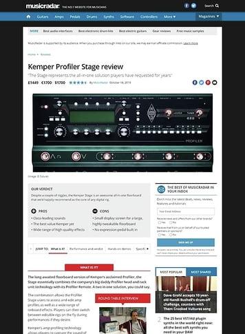 MusicRadar.com Kemper Profiler Stage