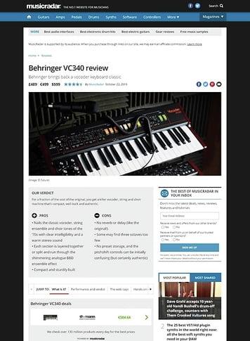 MusicRadar.com Behringer VC340