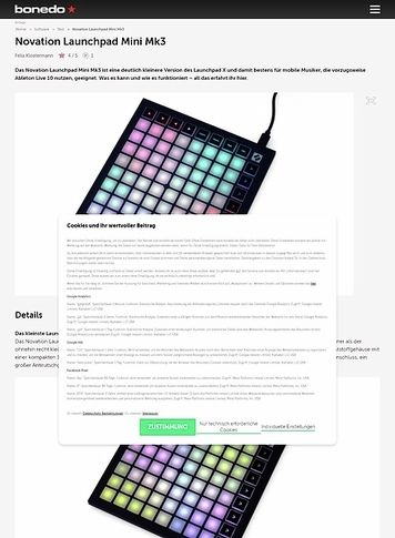 Bonedo.de Novation Launchpad Mini Mk3