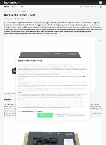 Bonedo.de the t.racks DSP 206