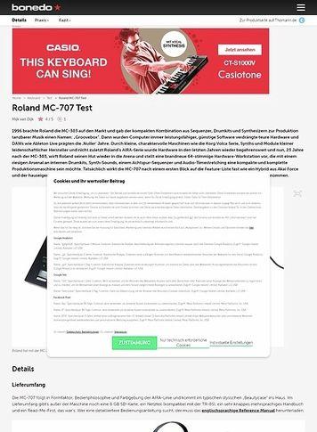 Bonedo.de Roland MC-707