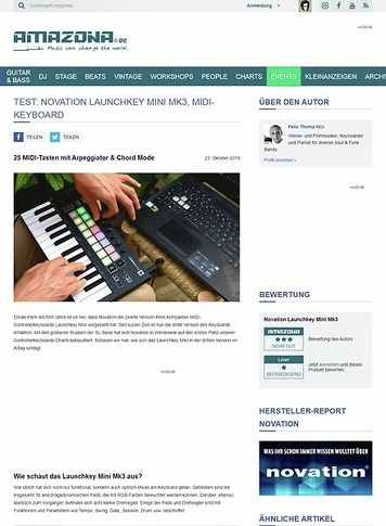 Amazona.de Novation Launchkey Mini Mk3