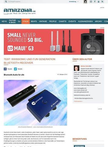 Amazona.de Swissonic und Fun Generation Bluetooth Receiver