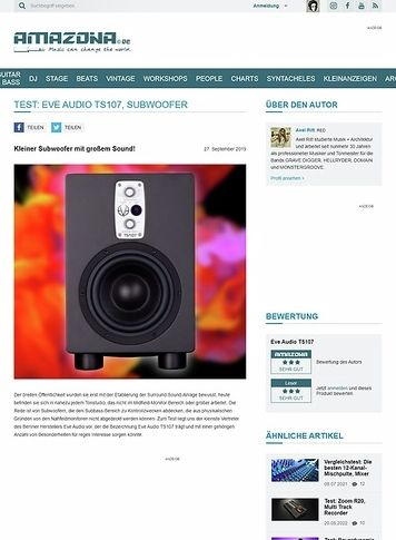 Amazona.de Eve Audio TS107