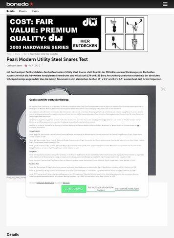 Bonedo.de Pearl Modern Utility Steel Snares