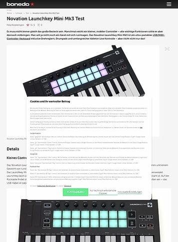 Bonedo.de Novation Launchkey Mini Mk3