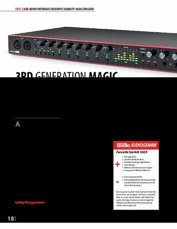 Professional Audio Focusrite Scarlett 18i20 3rd Gen.