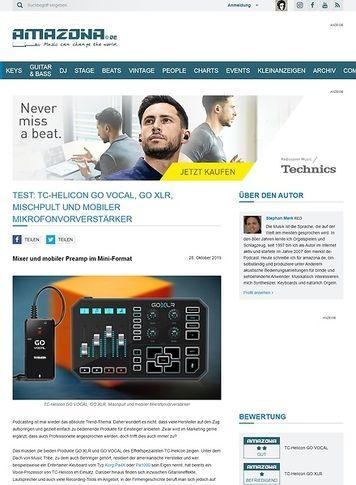 Amazona.de TC-Helicon GO VOCAL und GO XLR