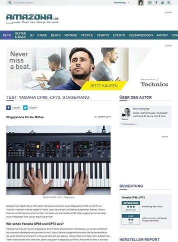 Amazona.de Yamaha CP88 und CP73