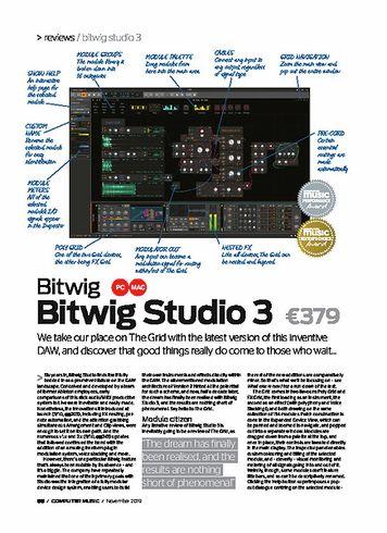 Computer Music Bitwig Studio 3